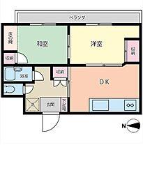 神奈川県大和市深見台2丁目の賃貸マンションの間取り
