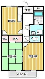 プラージュM(合戦場)[102号室号室]の間取り