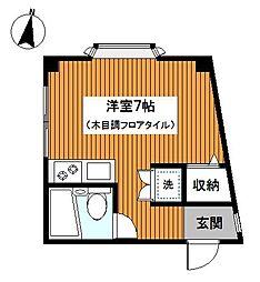 東京都大田区大森中2丁目の賃貸マンションの間取り