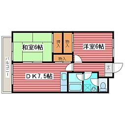メゾン22[4階]の間取り