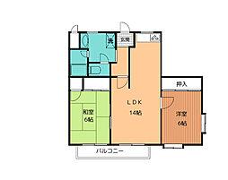 共和カワベマンション[2階]の間取り
