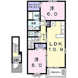 コンフォール矢三[2階]の間取り