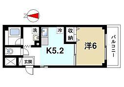 サニーコート西大寺[1階]の間取り