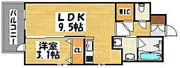 エンクレスト大博通りAPEX[2階]の間取り