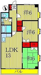 ランドフォレスト天王台I[3階]の間取り