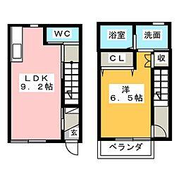 [テラスハウス] 愛知県稲沢市稲沢町前田 の賃貸【/】の間取り