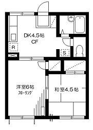 プレジールシノザキ[1階]の間取り