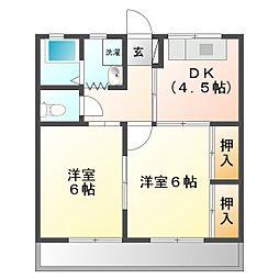 コーポYAMANO[103号室]の間取り