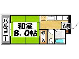 福岡県春日市桜ヶ丘2丁目の賃貸マンションの間取り