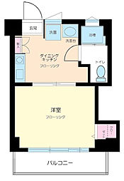 東京都調布市若葉町1丁目の賃貸マンションの間取り