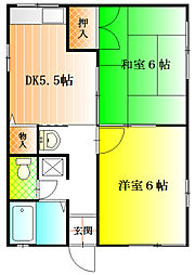 島泉弐番館[1階]の間取り