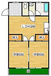 興羽コーポ[105号室]の間取り