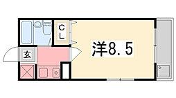 兵庫県姫路市北平野南の町の賃貸マンションの間取り