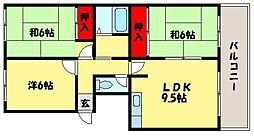 アーバンハイツ那珂川[3階]の間取り