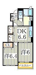 パニエ・ド・フルール[1階]の間取り