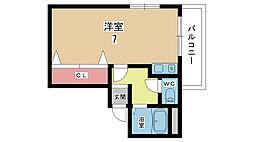 大阪府豊中市服部寿町2丁目の賃貸マンションの間取り