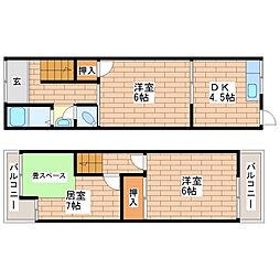 [一戸建] 大阪府大阪市平野区加美東1丁目 の賃貸【/】の間取り