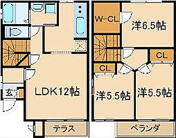 モンフレール[2階]の間取り