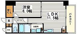 レジェンドール心斎橋東G-RESIDENCE[4階]の間取り