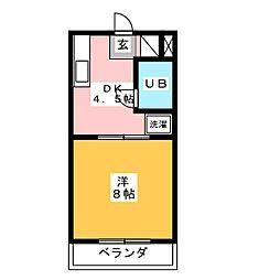 アプリコットハウスI[3階]の間取り
