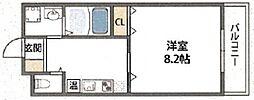クィーンライフ勝山北[2階]の間取り