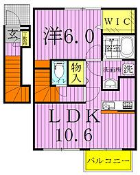 ストロベリーカーサ3-2・[2階]の間取り