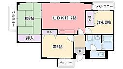 プラザ武庫川[301号室]の間取り