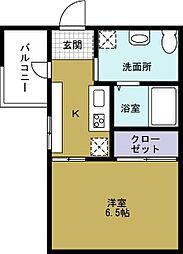 JJ COURT市岡元町[9階]の間取り