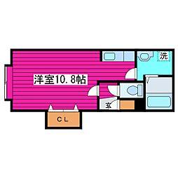 北海道札幌市北区あいの里四条4丁目の賃貸アパートの間取り
