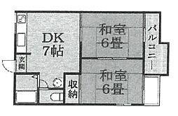ハイツ金和田[203号室]の間取り