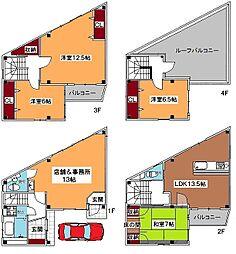 阪急神戸本線 十三駅 徒歩8分 5LDKの間取り