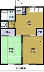 徳屋マンション[305号室]の間取り
