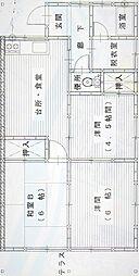 静岡県三島市南田町の賃貸アパートの間取り