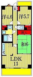 ライオンズマンション西八千代[6階]の間取り