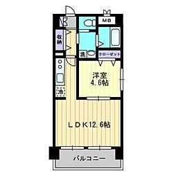 ドマーニ葛島[3階]の間取り