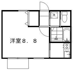 クレセントKENTIII[2階]の間取り