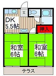 ひまわりハウス[2階]の間取り