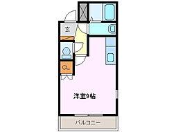 ハウスゆき[1階]の間取り