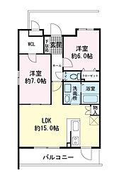 (仮)青島マンション[0202号室]の間取り