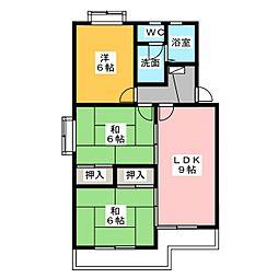 マンションハイネス[3階]の間取り