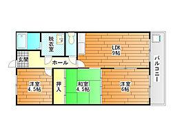 田中マンションA棟[2階]の間取り