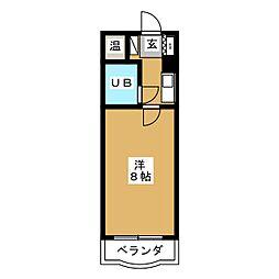 ハイシティ岩田[2階]の間取り