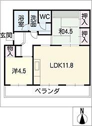トモエコーポ[2階]の間取り