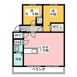 諏訪ハイツ[2階]の間取り