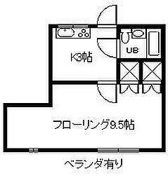 ロイヤルハイツ江平[305号室]の間取り