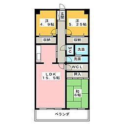 ニューコーポ金柳二番館 207号[2階]の間取り