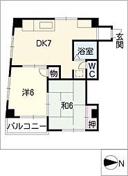 シティメイツKODEKI[2階]の間取り