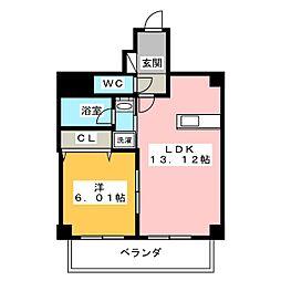 ベルカーサ西大須[4階]の間取り