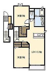 サンシャインレジデンス A棟[A202号室]の間取り