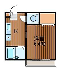 カーサ栄町[101号室]の間取り
